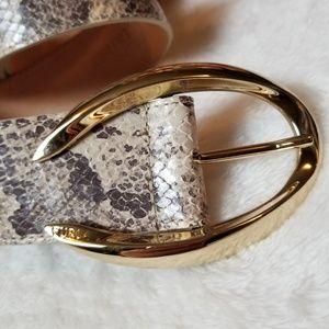 Furla Snake Print Belt